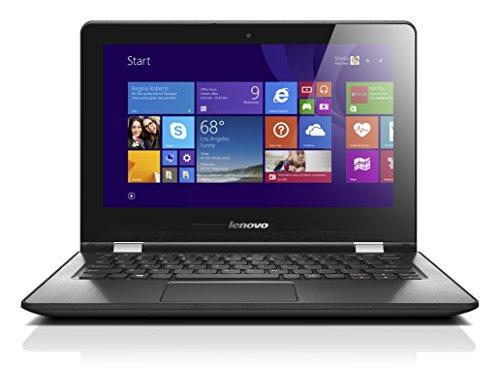 Lenovo YOGA 300-11IBY 29,5 cm (11,6 Zoll HD LED) Convertible Laptop (Intel Celeron N2940 Quad-Core Prozessor, 2,25GHz, 2GB RAM, 32GB eMMC, Intel HD Grafik, Touchscreen, Windows 10 Home) schwarz