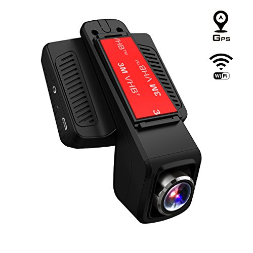 TOGUARD Dash Cam GPS,WiFi Dashboard Camera,Stealth Full HD 1080P Dash Camera,170 Degree Wide Angle Lens, 2.45
