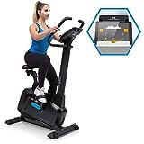 Capital Sports Evo Pro Cardiobike - Fitnessfahrrad mit Trainingscomputer, Heimtrainer, Bluetooth, 32 Stufen, App-Integration, 20 kg Schwungmasse, Tablet-Halterung, Pulssensor, schwarz