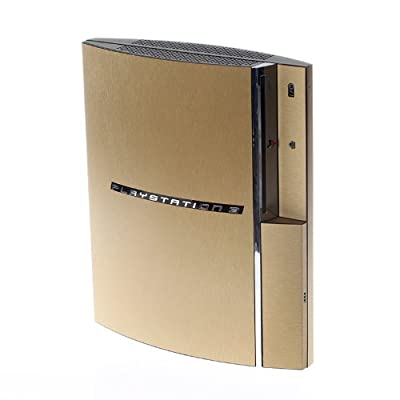 PS3 Playstation Original FAT Textured Brushed Gold Skin Wrap from Sony Playstation