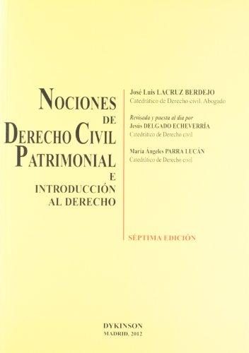 Nociones de Derecho Civil Patrimonial e introducción al derecho por José Luis Lacruz Berdejo [et al.]
