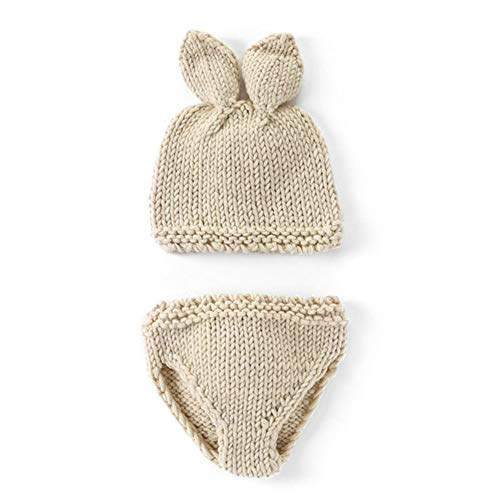 ZYCX123 Neugeborenes Baby-Fotografie Outfit Häkelarbeitknit Kostüm Kaninchen Kleinkind-Kleidung Baby-Fotografie Prop Outfits