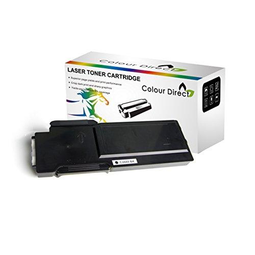 Colour Direct Schwarz Kompatibel Toner Patronen Ersatz für Dell C2660dn C2665dn C2665dnf Drucker 6000 Seiten