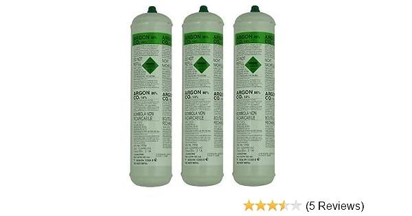 Langley 3 X Argon CO2 Disposable Gas Bottles 390G 60L