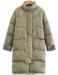 Mujeres Moda de invierno chaquetas acolchados gruesa calientes en la larga section abrigo acolchado en algodón,…