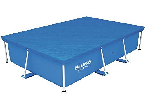 Bestway Flowclear PE-Abdeckplane, für Steel Pro Pool 259x170x61 cm, blau
