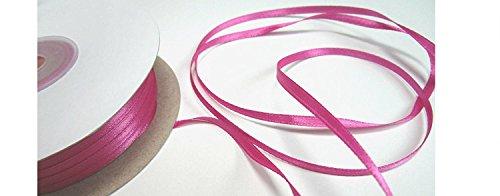 100m 3mm breit Satin Schleifenband Geschenkband Satinband Dekoband Hochzeit Weihnachten (Pink)