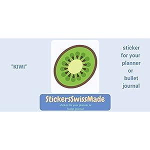 AUFKLEBER FÜR KALENDER    Kiwi    Essen    kleine farbige Icons   für Kalender oder Bullet Journals