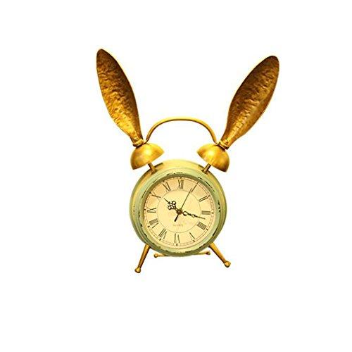 Du-yanting orologio da tavolo orologio da 6 pollici orologio da camera muto orologio da salotto retro orologio da camino