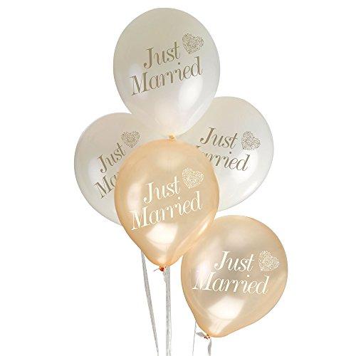 Neviti Vintage Romance Ballons, Crème/Gold Just Married