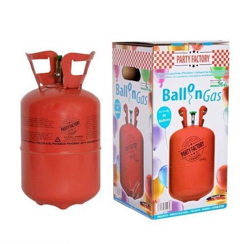 Bada Bing Helium Heliumgas 0,42 m³ Ballongas Für bis Zu 50 Ballons Folienballon Luftballon Hochzeit Geburtstag Valentinstag Neu