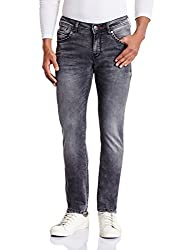 Wrangler Mens Vegas Skinny Fit Jeans(8907222650155_W15245W2201Z_34W x 33L_Black Rags)