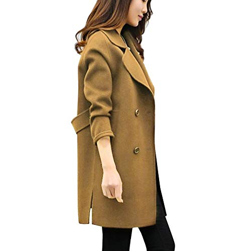JUTOO Womens Herbst Winter Jacke Lässige Outwear Parka Cardigan Schlank Mantel(Kaffee,Small)