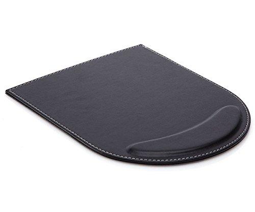 Preisvergleich Produktbild Zedtom Qualitativ hochwertig PU-Leder Mauspad mit Handauflage für Büroarbeit, Schwarz