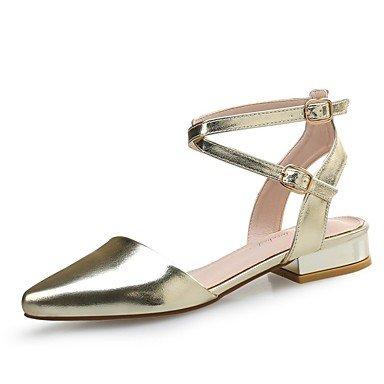 Stivali da donna Comfort PU Summer Casual Comfort Argento Nero Gold Flat Black
