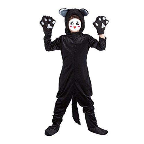 YYF Mädchen Jungen Kostüme Kleinkind Verspielt Kitty Black Velvet Kostüm