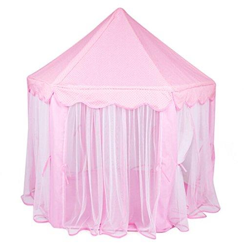 Qianle Kinder Spielzelt Prinzess Spielhaus Pink