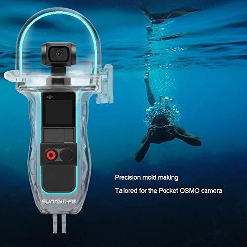 Hook.s Sport Kamera PTZ Kamera Unterwassergehäuse Schutzhülle Tauchen Shell Kamera Zubehör für DJI OSMO Pocket -