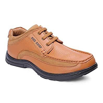 Red Chief Wronge Tan Leather Outdoor Shoe for Men (RESS01 0100) 10 UK/India