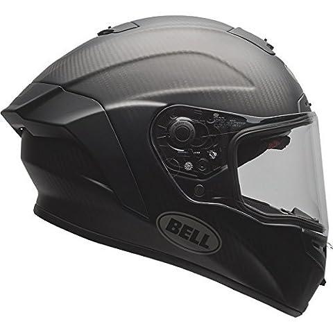 Bell Solid Adult Race Star Street Motorcycle Helmet - Matte Black / Large by Bell
