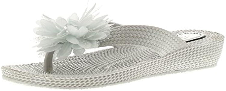 Wynsors Flora Damen Keilabsatz Sandalen Silber - Silber - Uk-Größen 4-8