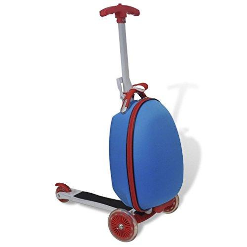 vidaXL Kinderscooter Reisekoffer Trolley Roller Handgepäck Tretroller Rollkoffer (Kinder-koffer Roller)