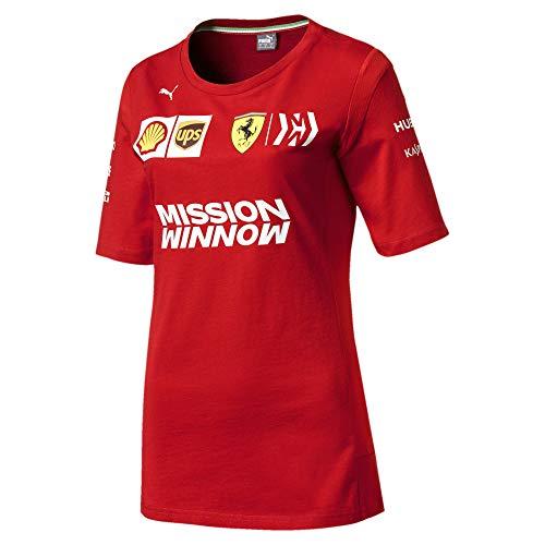 Puma Ferrari Team Damen T-Shirt Rosso Corsa XS