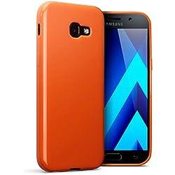 Coque Galaxy A5 2017, Terrapin Étui Coque en Gel TPU pour Samsung Galaxy A5 2017 Case - Solide Orange