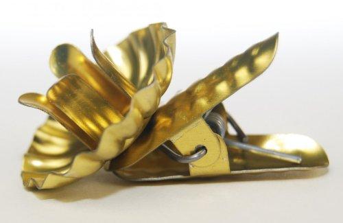 Baumkerzenhalter Clip in Zapfenform in verschieden Sets (20er, Gold)
