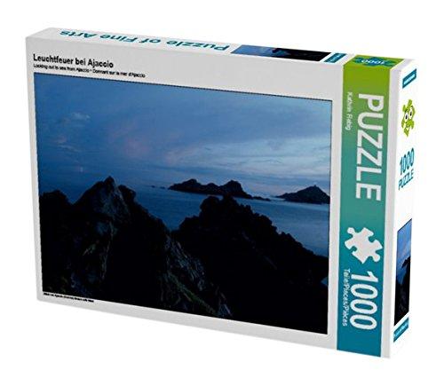 Preisvergleich Produktbild Leuchtfeuer bei Ajaccio 1000 Teile Puzzle quer: Blick von Ajaccio (Korsika) hinaus aufs Meer (CALVENDO Natur)