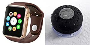 MIRZA Bluetooth A1 Smart Wrist Watch & Bluetooth Speaker for LG volt(Shower Bluetooth Speaker & A1 Smart Watch Watch Phone with Camera & SIM Card Support Hot Fashion New Arrival Best Selling Premium Quality Lowest Price with Apps like Shower,Whatsapp, Twitter, Sports, Health, Pedometer, Sedentary Remind,Compatible with Android iOS Mobile Tablet-Assorted Color)
