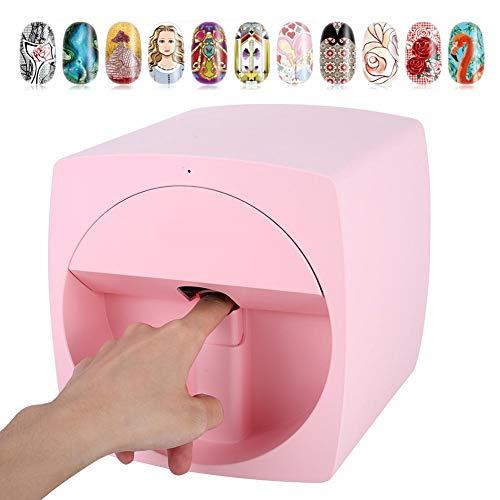 Impresora de uñas Digital portátil 3D, DC24V / 1A DIY Impresora móvil Digital de uñas. Máquina de Pintura portátil de uñas Inteligente 3D portátil. 35 Segundos(EU)