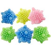 ANKKO 2pcs Bolas de lavandería en forma de estrella, Bolas secador, Bolas de lavado, Color al azar