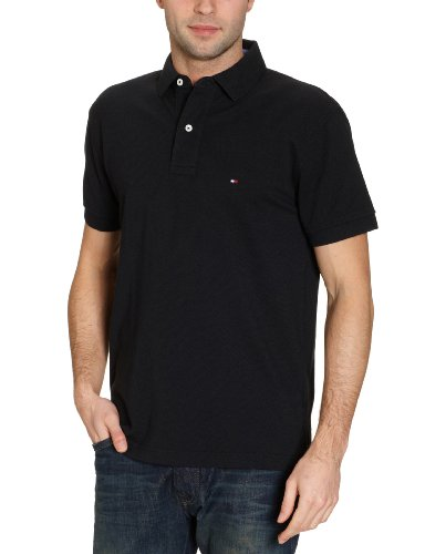 Tommy Hilfiger Core / New Tommy Knit S/Sl, Polo Uomo, Nero (060 New Black), Medium