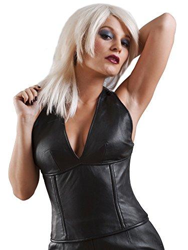 Flittchen Kostüm - Honour Flittchen-Neckholder-Top aus Leder Schwarz Größe:
