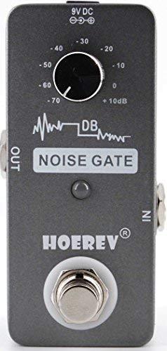 Hoerev Gitarren Effekte Noise Gate für Gitarren-und Bass Geräuschminderung, mit hoher Empfindlichkeit Noise Gate Controller