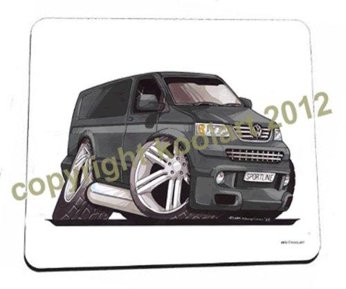Preisvergleich Produktbild Top Banana Gifts Koolart Mauspad VW T5Sportsline Lieferwagen, Schwarz, Premiumqualität