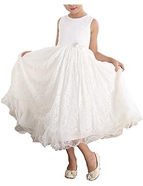 Cinda Le ragazze del vestito dalla damigella d'onore ragazza di fiore di pizzo