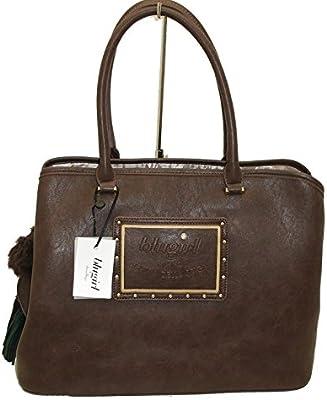 BLUGIRL - Bolso al hombro para mujer marrón marrón