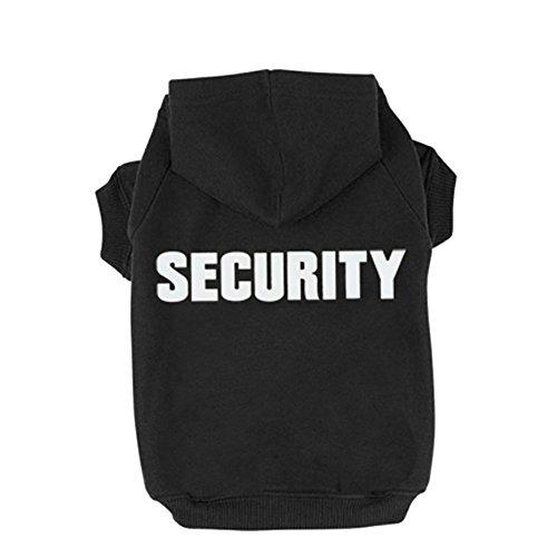 Rdc Hundepullover, mit Sicherheits-Druck, warm, Baumwolle, für Kleine Hunde und Katzen, Schwarz, XXL, schwarz (Kostüm Hund Chewbacca)