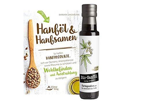 farmgoodies BIO Hanföl - direkt vom Bauern! | Nussig, grasig, kaltgepresst | + Hanföl und Hanfsamen: So helfen Hanfprodukte (Taschenbuch) I SUPERFOOD & ANWENDUNGSTIPPS -