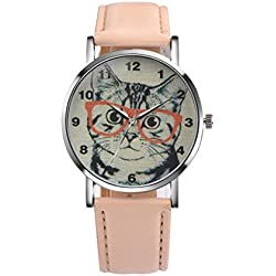 Watch, Tonwalk Women's Cat Pattern Analog Quartz Vogue Wrist Watch