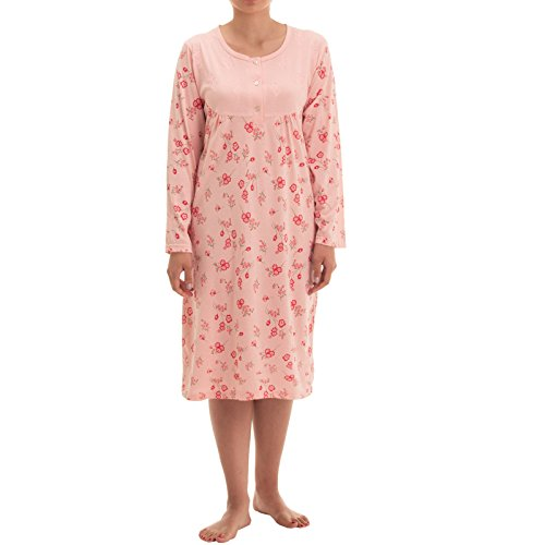Damen Schlafanzug Pyjama Grösse L 44//46 M 40//42 orange rosa weiss 100/% Baumwolle