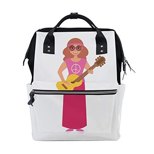 Musik Mann Mit Aktive Gitarre Große Kapazität Windel Taschen Mummy Rucksack Multi Funktionen Wickeltasche Tasche Handtasche Für Kinder Babypflege Reise Täglichen Frauen