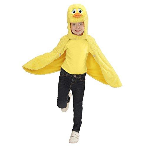 Kinder Ente Kostüm - Widmann - Kinderkostüm aus Plüsch, Umhang mit Kapuze und Maske