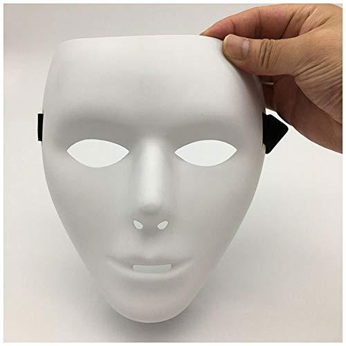 (Maske YN Jabbawockeez Maskentänzer Dance Performance Vollgesichtsmaske White Street Dance Männer und Frauen (Color : Men))