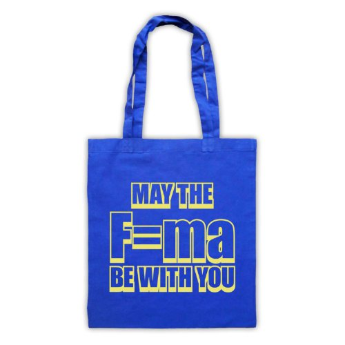 May The Force Be With You fisica Tote Bag Blu