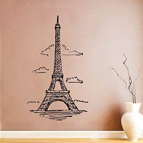 Nube Torre Vinilo Arte Pared Pegatinas Francia París