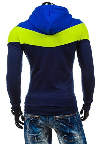 BOLF – Sweat-shirt à capuche – Pull de sport - STX RALPH – Homme Bleu foncé