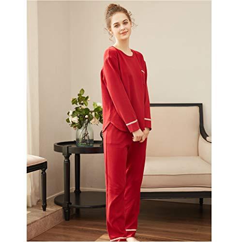 OLLOLCCY Frauen Pyjama Set Pyjamas PJ Set Langarm Top & Bottoms für Frau Weiche Baumwolle Nachtwäsche Loungewear Nachtwäsche Weihnachten Red Turtlen,Red,L -